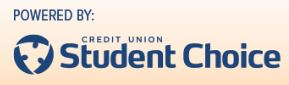 Powered by Student Choice Credit Union